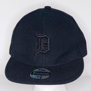 Other - Detroit Black Embossed Premium Fitted Baseball Cap